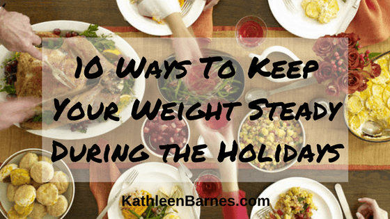 weight steady during holidays