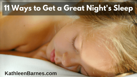 11 Ways to Get A Great Night's Sleep