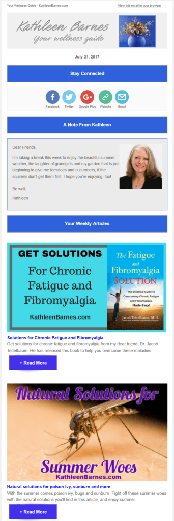 your wellness guide newsletter archive