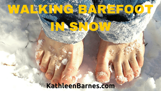 Walking Barefoot in Snow